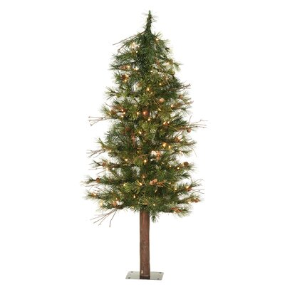 mixed country alpine 6 green artificial christmas tree with 200 clear lights reviews allmodern - 6 Christmas Tree