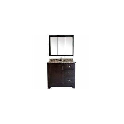 "Bathroom Vanities Ventura design house ventura 37"" bathroom vanity base and granite top set"