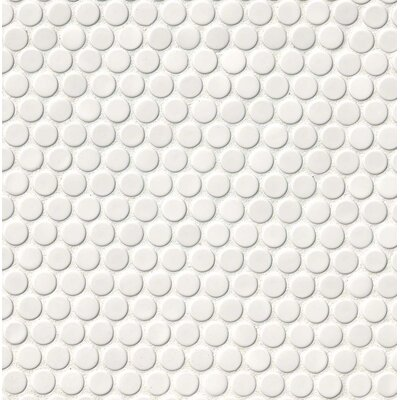 MSI Penny Round Porcelain Mosaic Tile in Glossy White & Reviews | Wayfair