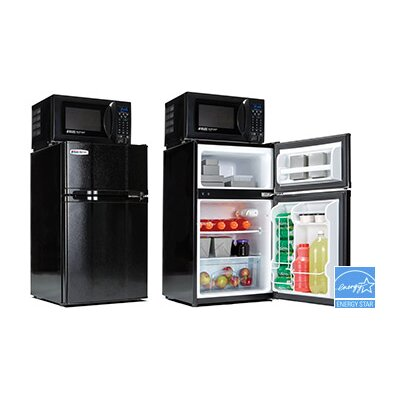 Microwave mini fridge combo bestmicrowave for 0 1 couch to fridge