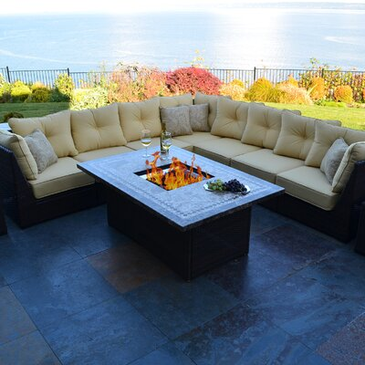 Outdoor Innovation South Beach 12 Piece Fire Pit Seating Group With Cushion  U0026 Reviews | Wayfair Part 68