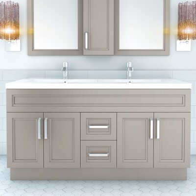 "cutler kitchen & bath urban 60"" vanity double bowl & reviews 