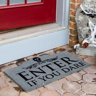 entryways sweet home enter if you dare non-slip coir doormat