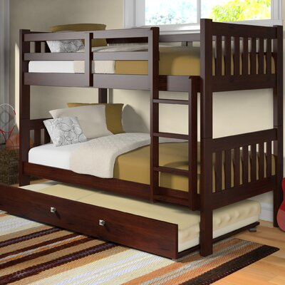 donco kids washington twin bunk bed with trundle reviews wayfair - Bunk Bed Frame