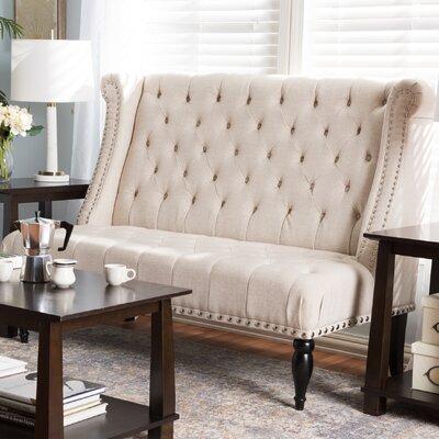 wholesale interiors baxton studio royce tufted settee bench u0026 reviews wayfair