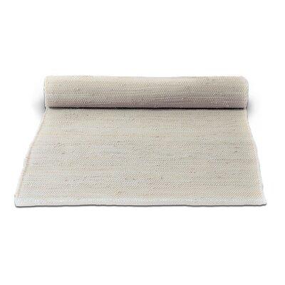 Rug Solid Handgefertigter Teppich Aus Baumwolle In Wüstenweiß Bewertungen Wayfair De