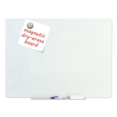 tempered glass dry erase wall mounted magnetic glass board u0026 reviews wayfair - Glass Dry Erase Board