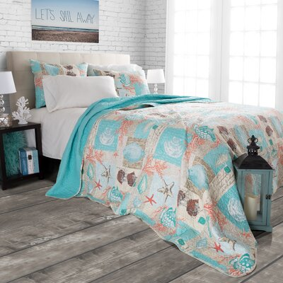 Highland Dunes Yush Nautical Starfish Quilt Set & Reviews | Wayfair : starfish quilt - Adamdwight.com