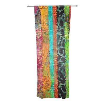 kess inhouse stained glass batik mosaic stripe striped semisheer curtain panels wayfair - Sheer Curtain Panels