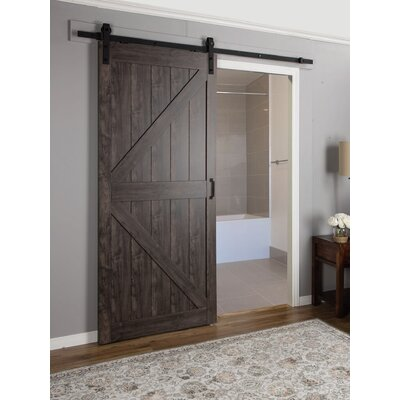 Charming Erias Home Designs Continental MDF Engineered Wood 1 Panel Interior Barn  Door U0026 Reviews | Wayfair Home Design Ideas