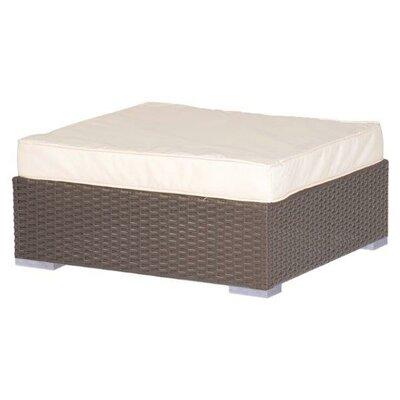 Trademark Innovations Square Rattan Outdoor Patio Ottoman With Cushion U0026  Reviews   Wayfair