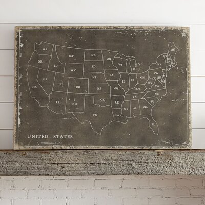 Us Map Wall Art usa map wall art & reviews | birch lane