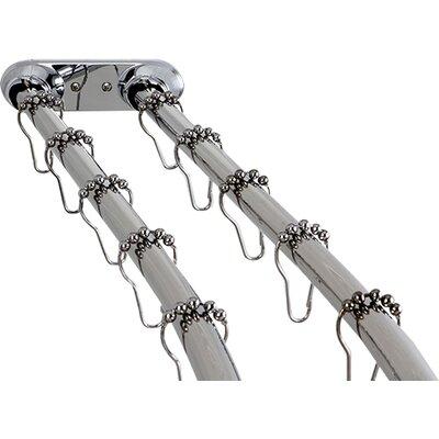 """kingston brass edenscape 70"""" adjustable curved tension shower"""