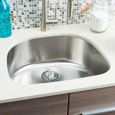 """hahn classic chef 23.38"""" x 21"""" single bowl undermount kitchen sink"""