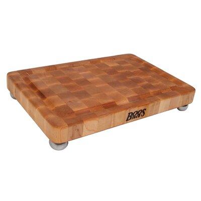 John Boos BoosBlock Maple Cutting Board with Stainless Steel Bun ...