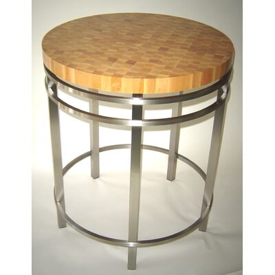 designer prep table with butcher block