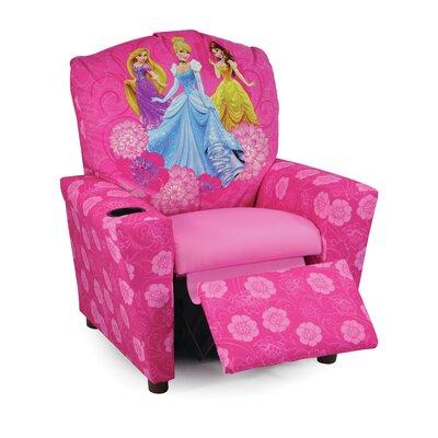 KidzWorld Disney Princesses Kids Recliner with Cup Holder u0026 Reviews | Wayfair  sc 1 st  Wayfair & KidzWorld Disney Princesses Kids Recliner with Cup Holder ... islam-shia.org