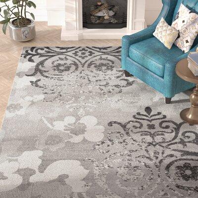 Willa Arlo Interiors Norah Silver/Ivory Area Rug U0026 Reviews | Wayfair