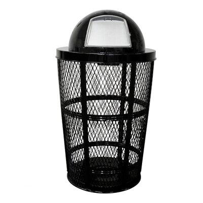 Witt Expanded Basket Receptacle Metal 48 Gallon Trash Can Reviews Wayfair