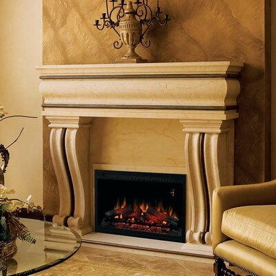 Classic Flame Builder Box Wall Mount Electric Fireplace Insert ...