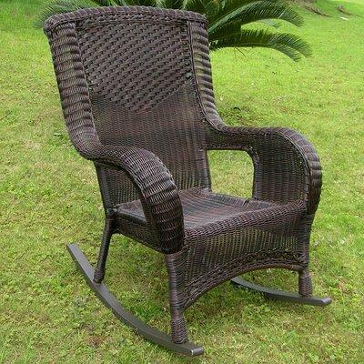 caravan san tropez wicker resin aluminum high back patio rocking chair u0026 reviews wayfair