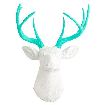 Deer Wall Decor white faux taxidermy the oleg deer wall decor & reviews | wayfair