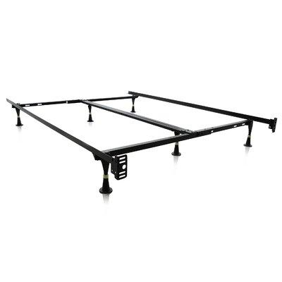 symple stuff 6 leg adjustable metal bed frame reviews wayfair - Adjustable Metal Bed Frame