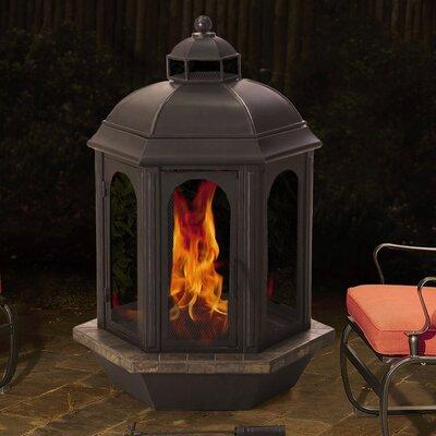 Sunjoy Ava Steel Wood Burning Outdoor Fireplace Reviews Wayfair