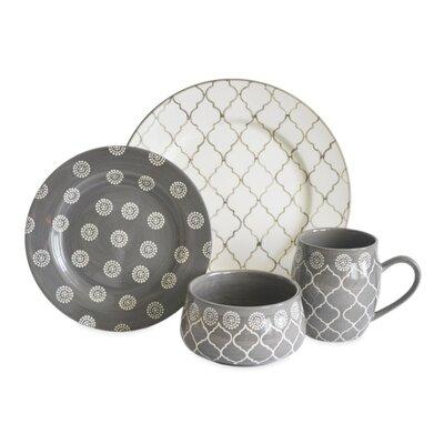 baum moroccan 16 piece dinnerware set service for 4 u0026 reviews wayfair - Dishware Sets