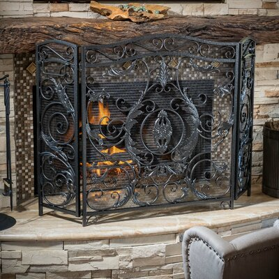 Home Loft Concepts Hayward 3 Panel Iron Fireplace Screen   Reviews   WayfairHome Loft Concepts Hayward 3 Panel Iron Fireplace Screen   Reviews  . Metal Fireplace Screens. Home Design Ideas