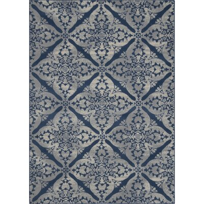 andover mills anzell blue/gray area rug & reviews | wayfair