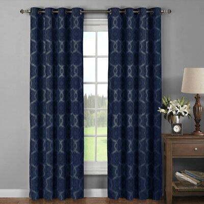 window elements avila geometric sheer grommet curtain panels u0026 reviews wayfair