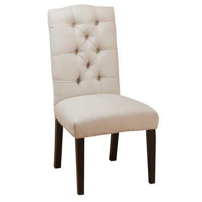 Three Posts Rockville Tufted Linen Side Chairs U0026 Reviews | Wayfair