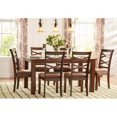 three posts crossback 7 piece dining set & reviews | wayfair