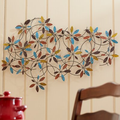 Metal Leaves Wall Decor three posts goulding metal leaf wall décor & reviews | wayfair