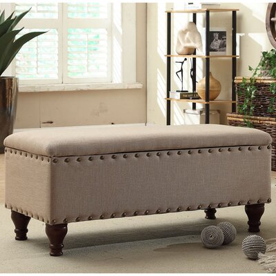 Three Posts Lattimer Upholstered Storage Bench & Reviews | Wayfair