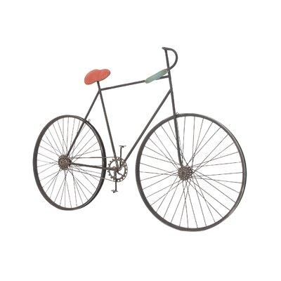 Metal Bicycle Wall Decor cole & grey metal bicycle wall decor & reviews | wayfair