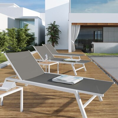 Metal Chaise Lounge Chairs urbanmod outdoor chaise lounge & reviews | wayfair