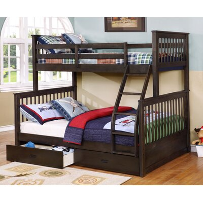 Creekside Taffy Twin Twin Step Bunk Bed with Desk - Bunk/Loft Beds Light  Wood