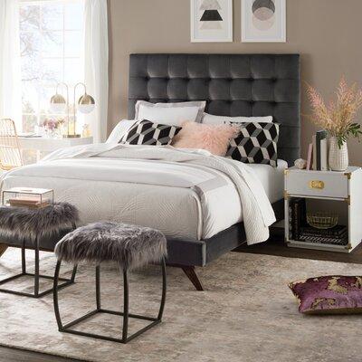 wade logan tipton upholstered platform bed reviews wayfair - Upholstered Platform Bed Frame