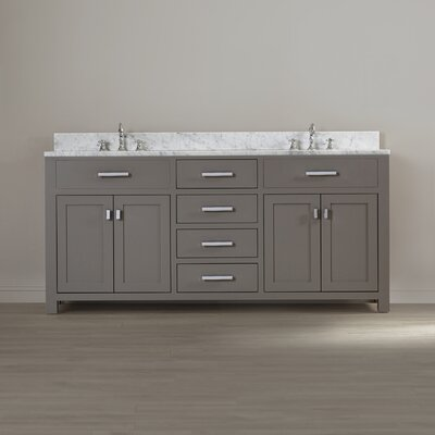 Darby Home Co Fran 72 Double Sink Bathroom Vanity Set Reviews
