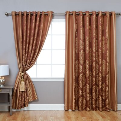 Best Home Fashion, Inc. Wide Width Damask Jacquard Grommet Curtain Panels U0026  Reviews | Wayfair