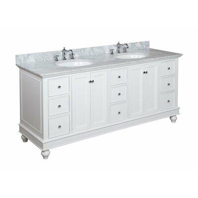 "Bathroom Vanities Double kbc bella 72"" double bathroom vanity & reviews | wayfair"