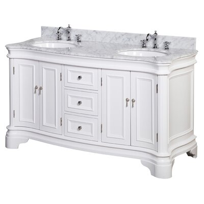 "kbc katherine 60"" double bathroom vanity set & reviews 