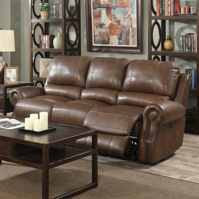 Crete Leather Reclining Sofa