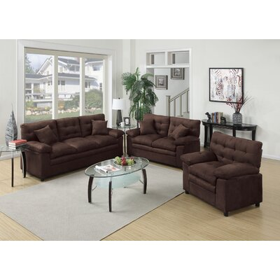 Red Barrel Studio Kingston 3 Piece Living Room Set U0026 Reviews | Wayfair