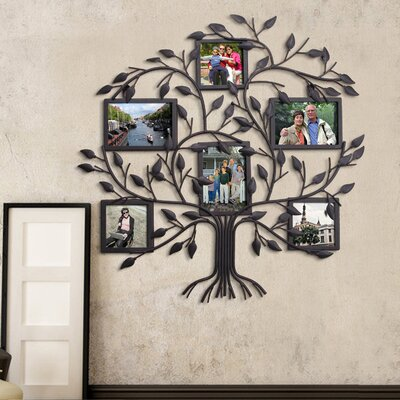 Family Tree Picture Frame Wall Hanging red barrel studio 6 opening decorative family tree wall hanging
