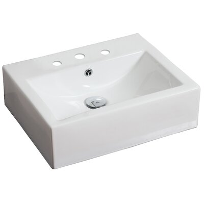 American Imaginations Above Counter Rectangular Vessel Bathroom Sink Reviews Wayfair