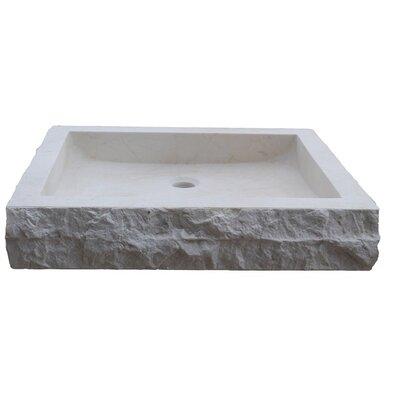 Bathroom Sinks Rectangular tashmart chiseled rectangular natural stone circular vessel