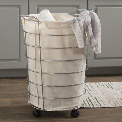 rolling laundry hamper with lid basics walmart basket handle